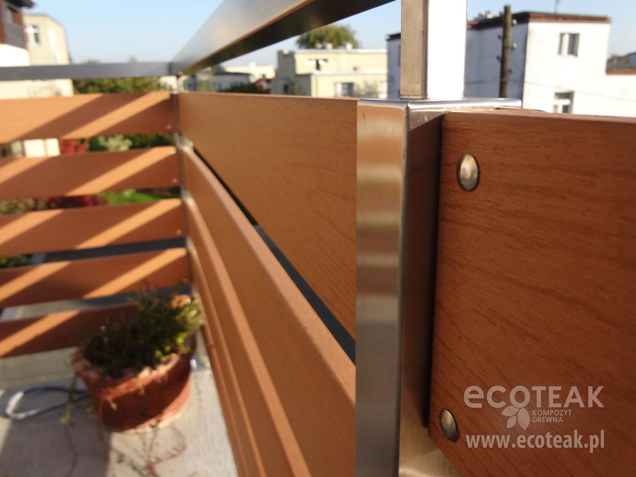 Młodzieńczy Ogrodzenia i balustrady z Kompozytu Drewna EcoTeak - EcoTeak PU97