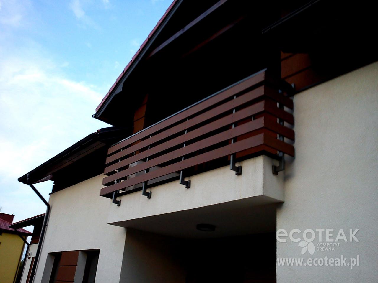 Tylko na zewnątrz Ogrodzenia i balustrady z Kompozytu Drewna EcoTeak - EcoTeak NA05