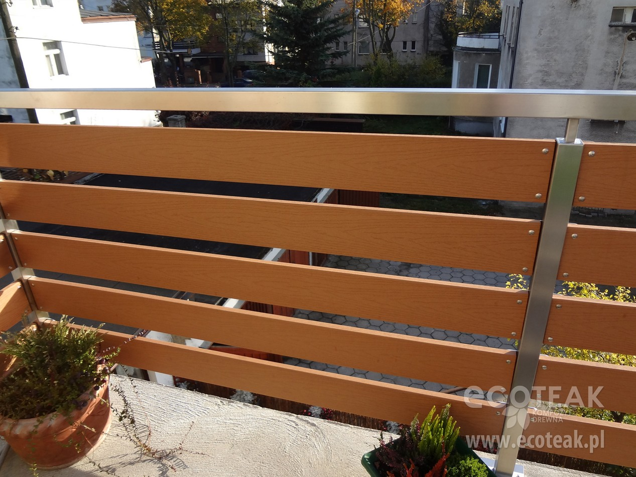 Bardzo dobry Ogrodzenia i balustrady z Kompozytu Drewna EcoTeak - EcoTeak NP17